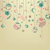 Achtergrond met de ballen van Kerstmis. EPS 8 Royalty-vrije Stock Afbeeldingen