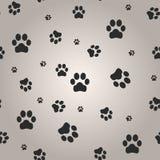 Achtergrond met de druk van de hondpoot Vector illustratie royalty-vrije illustratie