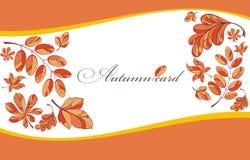 Achtergrond met de herfstbladeren Royalty-vrije Stock Afbeelding