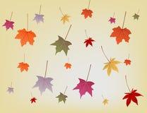 Achtergrond met de herfstbladeren Stock Afbeelding