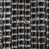 Achtergrond met de kettingen van het rolmetaal Royalty-vrije Stock Afbeelding