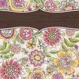 Achtergrond met de lentebloemen stock illustratie