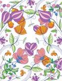 Achtergrond met de lentebloemen Royalty-vrije Stock Foto