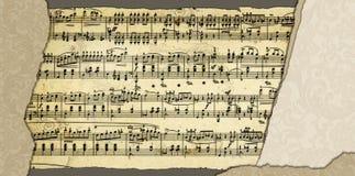 Achtergrond met de pagina van het muziekblad Stock Afbeeldingen
