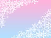 Achtergrond met de sneeuwvlokken Stock Illustratie