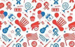 Achtergrond met de Symbolen van de V.S. Stock Foto's