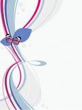 Achtergrond met de vlinder Royalty-vrije Stock Foto's