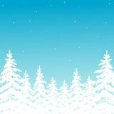 Achtergrond met de winterbos royalty-vrije illustratie