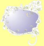 Achtergrond met decoratieve grens royalty-vrije illustratie