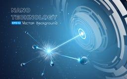 Achtergrond met deeltjesexplosie Royalty-vrije Illustratie