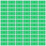 Achtergrond met dollars Vector vlakke illustratie eps10 stock illustratie