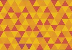 Achtergrond met driehoeken in hittekleuren Stock Afbeeldingen