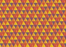 Achtergrond met driehoeken in hittekleuren Royalty-vrije Stock Afbeelding