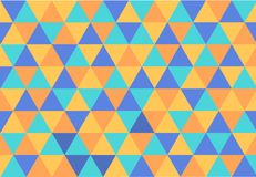 Achtergrond met driehoeken van vier kleuren Stock Afbeelding