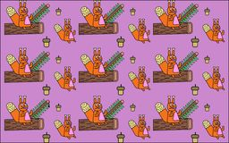Achtergrond met eekhoorns Royalty-vrije Stock Afbeeldingen