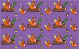 Achtergrond met eekhoorns Royalty-vrije Stock Foto