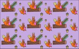 Achtergrond met eekhoorns Stock Afbeeldingen