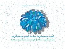 achtergrond met een blauwe bloem Stock Foto's