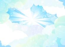 Achtergrond met een blauwe hemel, Royalty-vrije Stock Afbeelding