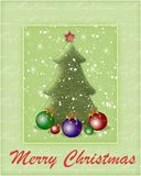 Achtergrond met een boom van het Nieuwjaar Royalty-vrije Stock Foto's