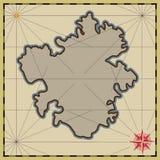 Achtergrond met een lege kaart royalty-vrije illustratie