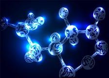 Achtergrond met een molecule Royalty-vrije Stock Foto's