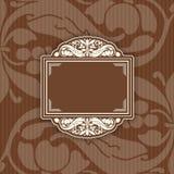 Achtergrond met een patroon uitstekende stijl met kader Royalty-vrije Stock Afbeeldingen