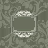Achtergrond met een patroon uitstekende stijl met kader Royalty-vrije Stock Foto's
