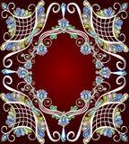 Achtergrond met een patroon van edelsteenzilver Stock Fotografie