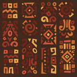 Achtergrond met elementen van Afrikaans ornament Stock Afbeelding