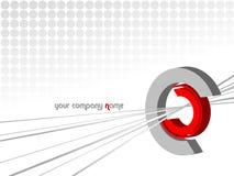 Achtergrond met embleem Stock Fotografie