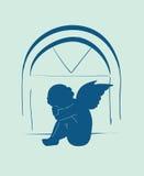 Achtergrond met engel Stock Afbeelding