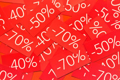 Achtergrond met etiketten Stock Foto