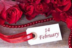 Achtergrond met 14 Februari Royalty-vrije Stock Afbeelding