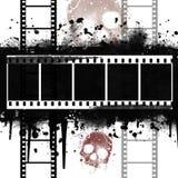 Achtergrond met Filmstrip Grunge Stock Afbeeldingen