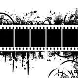 Achtergrond met Filmstrip Grunge Royalty-vrije Stock Afbeeldingen