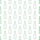 Achtergrond met flessen Stock Foto's