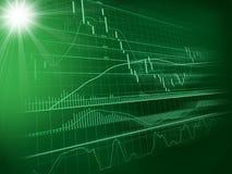 Achtergrond met forex grafiek Royalty-vrije Stock Foto's