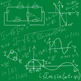 Achtergrond met formules vector illustratie