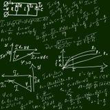 Achtergrond met formules royalty-vrije illustratie