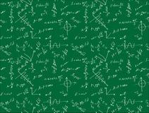 Achtergrond met formules Stock Foto