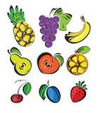 Achtergrond met fruit Stock Fotografie