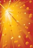 Achtergrond met geel-rode stralen. Royalty-vrije Stock Fotografie