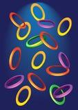 Achtergrond met gekleurde ringen Royalty-vrije Stock Foto
