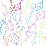 Achtergrond met gekleurde vliegers Royalty-vrije Stock Afbeelding