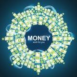 Achtergrond met geld Stock Afbeeldingen