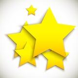 Achtergrond met gele sterren stock illustratie