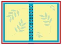Achtergrond met geopend notitieboekje Stock Afbeelding