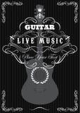 Achtergrond met gitaar Royalty-vrije Stock Afbeelding
