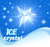 Achtergrond met glanzende kristallen van ijs en golf Royalty-vrije Stock Foto's
